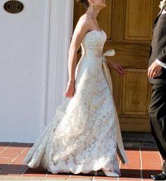 This is definitely it! Jim Hjelm 8763 Lace Wedding Dress