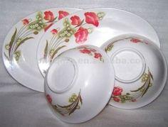 Melmac Dinnerware Product | Melmac Pretty Flower Design Melamine dinnerware set