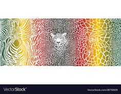 Color pattern background with zebra leopard and vector image on VectorStock Web Design, Graphic Design, Pattern Background, Cellphone Wallpaper, Color Patterns, Adobe Illustrator, Giraffe, Vector Free, Africa