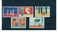 GB STAMP MINT NH QE 11 1996 CHRISTMAS SG 1950 - 1954 SCOTT 1708 - 1712