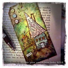 mixed media tag art by blurbaby, via Flickr