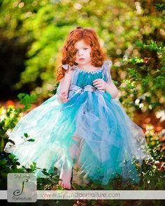 Enchanted Wedding Fairy Ware Little Teal Dress by enchantedfairyco,