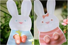 Printable Easter Bunny Puppet craft by Secret Agent Josephine