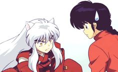 Inuyasha and Ranma share the same voice actor in both Japanese and English dub.