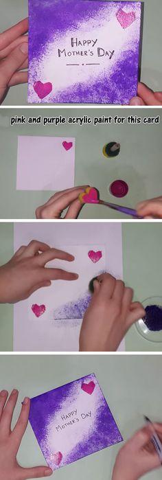 Sponge Stippler Effect | Easy Mothers Day Cards for Kids to Make