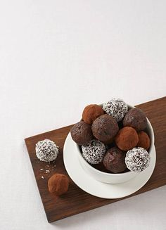 The combination of dark chocolate and dates make this bite-size treat a healthier alternative.