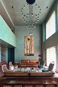 Inspired by the purist canvases of Le Corbusier, Bengaluru-based FADD Studio designs a modern, minimalist home for a family of four in Gurgaon Studio Interior, Home Interior Design, Interior Architecture, Interior Ideas, Living Room Green, Spacious Living Room, Le Corbusier, Bauhaus, Large Furniture