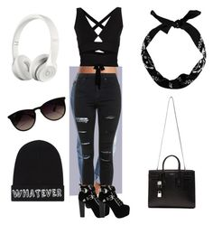 """""""Ma style"""" by gobymyfashionandfollowme on Polyvore featuring Topshop, Proenza Schouler, Jeffrey Campbell, Yves Saint Laurent, Beats by Dr. Dre, Ray-Ban and Local Heroes"""