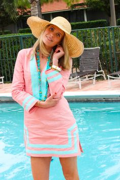 Sail to Sable Palm Beach Lately classic tunic dress...