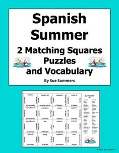 Bullying For Kids Worksheets Excel Spanish Sports Quiz Or Worksheet  Matching Sentences  Jugar  Forensic Science For Kids Worksheets Excel with Synonym Worksheets 4th Grade Excel Spanish Summer  Matching Squares Puzzles  X  Latitude And Longitude Printable Worksheets Pdf