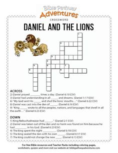Daniel in the Lions Den. Free Bible lesson plans, cartoons, and puzzles for parents and teachers. Learn more about Babylon, Daniel, and the den of Lions. Bible Activities For Kids, Bible Crafts For Kids, Bible Study For Kids, Bible Lessons For Kids, Kids Bible, Toddler Bible, Bible Games, Primary Lessons, Sunday School Crafts For Kids