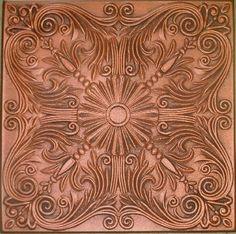 "Decorative Ceiling Tiles, Inc. Store - Spanish Silver - Styrofoam Ceiling Tile - 20""x20"" -"
