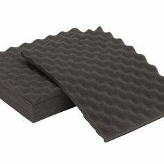 6Pcs Acoustic Sound Treatment Convoluted Egg Profile Foam Panels