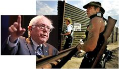 In 2006, Sen. Sanders voted to protect armed racist border vigilante thugs, for the US-Mexico border only.