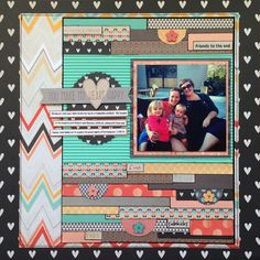 happy heart - Scrapbook.com by Heartstrings and Lovely things.  Adjust for 8.5x11.