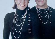 Men's Necklace Size Chart from overstockjeweler.com | Jewelry ...
