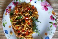 Kritharaki-Salat mit Hackfleisch