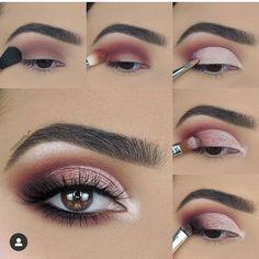 Soft Eye Makeup, Makeup Eye Looks, Eye Makeup Steps, Cute Makeup, Glam Makeup, Gorgeous Makeup, Simple Makeup, Skin Makeup, Makeup Inspo
