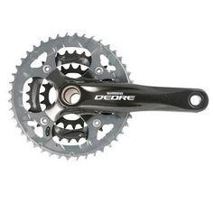 Shimano Deore FC-M590 2-piece 9-Speed Mountain Bicycle Crank Set (170 x 22/32/44 - W/O CG), Black