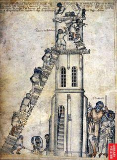 Medieval torre de Babel.