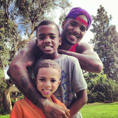 """Jayceon """"The Game"""" Taylor with his sons King Justice & Harlem"""