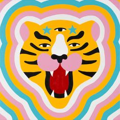 Start an eye-candy journey through art and illustration with the tiger as the main character. Tiger Illustration, Beach Illustration, Mermaid Illustration, Graphic Design Illustration, Astronaut Illustration, Family Illustration, House Illustration, Digital Illustration, Male Character