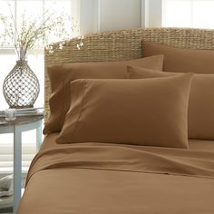 Our elegant 6-Piece Essential Sheet Set is velvety smooth with exceptional durability. This piece is the ideal bedding for your home. The quality of microfiber sheets is exceptional with its ability to resist static and stains while keeping you warm and dry. With these wrinkle-free sheets you'll never have to worry about ironing your sheets again.