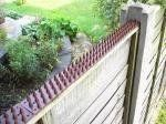 Cat Repeller Fence and Wall Spikes - Strip of 8 (13ft) Gray by TheOutDoorShop. $39.95. Available in various colors to suit your home. The best way to keep cats out of your garden is to prevent them getting in in the first place. The spikes are designed to give maximum discomfort with minimum harm.. Security and Pest Fence Spikes. Security and Garden Pest Strip (Gray) Made from weather resistant polypropylene, it is easily attached to the top of the fence or brick w...