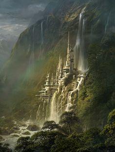 Cyberlance Jungle City - Sarel Theron Digital Matte Painting