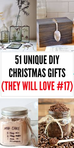 DIY Christmas gifts ( that they will actually want)