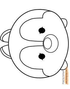 Tsum Tsum printable activities | Disney Tsum Tsum Printable Coloring Pages 2 | Disney Coloring Book