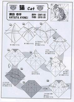 Gato de origami – Katsuta Kyohei   Galletita de Jengibre