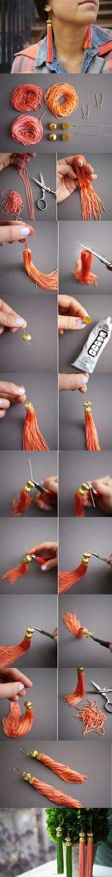 Image de diy, earrings, and handmade