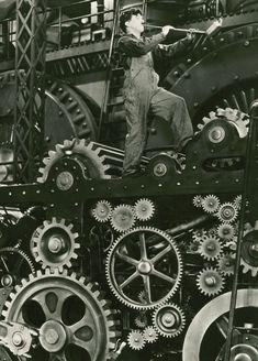 Charlie Chaplin in Modern Times (1936, dir. Charlie Chaplin)