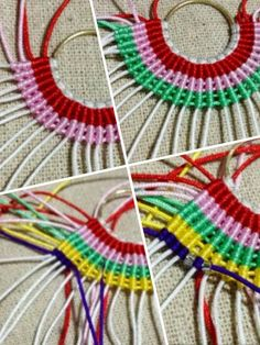 Wire pendant, knots and beads tutorial - Macrame 2019 Macrame Earrings, Macrame Bag, Macrame Knots, Micro Macrame, Macrame Jewelry, Macrame Bracelets, Diy Earrings, Brass Necklace, Macrame Patterns