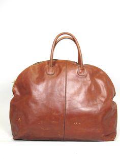 BOTTEGA VENETA Vintage 1980's Marcopolo Oversized Zippered Duffel Bag