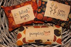 Primitive Stitchery Pillows Bowl Fillers by CornerstonePrims