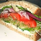 Veggie Sandwich with Cucumber and Sprouts