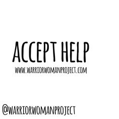 When we are warriors superwoman be everything to everyone we can find it hard to accept help. For many of us we put a pressure on ourselves to be perfect and amazing and have it all together. Truth is if we accept help we actually get more done are even better and are less stressed and worn out.  The shit you struggle with get help. Take the pressure off. Even just having someone to bounce ideas off chat things through see things from a different perspective... I am here to help…