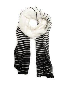 Two Tone Striped Scarf