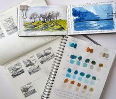The sketchbooks of artist Vicki Hutchins