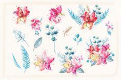 Watercolor Sketch Lily by Spasibenko Art on @creativemarket