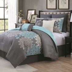 Avondale Manor Amber 9-piece Bed Set, Turquoise/Blue (Turq/Aqua)