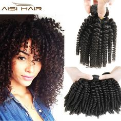 3 Bundles Deals Afro Kinky Curly Hair Spiral Curl Weave Human Hair Peruvian Virgin Hair Curly Wave Aunty Funmi Bouncy Curls Fumi *** Find out more about the great product at the image link.
