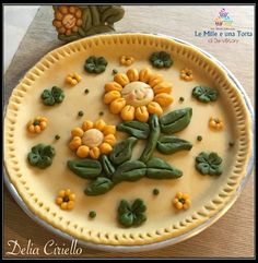 Baked Pie Crust, Pie Crust Recipes, Pie Town, Pie Crust Designs, Pie Decoration, Best Party Food, Flower Food, Homemade Pie, Food Crafts