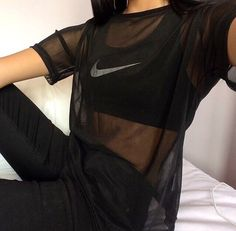 mesh jersey nike see through blouse top black white nike air sportswear style fashion jeans nike brand tumblr outfit tumblr tumblr girl sporty urban girly boho indie elegant