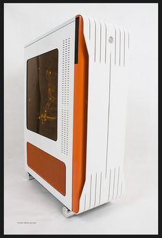 Custom Orange White Case