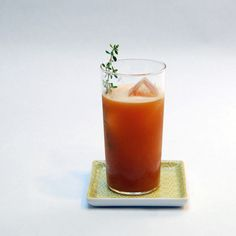 The G.C. (coffee, bourbon, thyme simple syrup, almond milk, charred pineapple bitters)