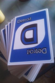 Detroit Uno Postcards - I have got to get some of these!