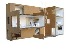© impromptu arquitectos - northshore housing complex - UK - 2009  ♦ × ARCHITECTURAL MODEL PORTUGUESE MODEL PAPER AND CARDBOARD FURNITURE PEOPLE TREES 2005 09